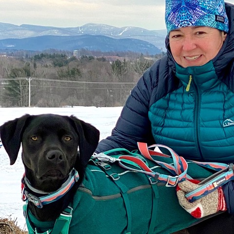 Dianne Bouchard and her dog Aspen